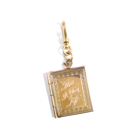 "Vintage ""This is Your Life"" Locket Charm"