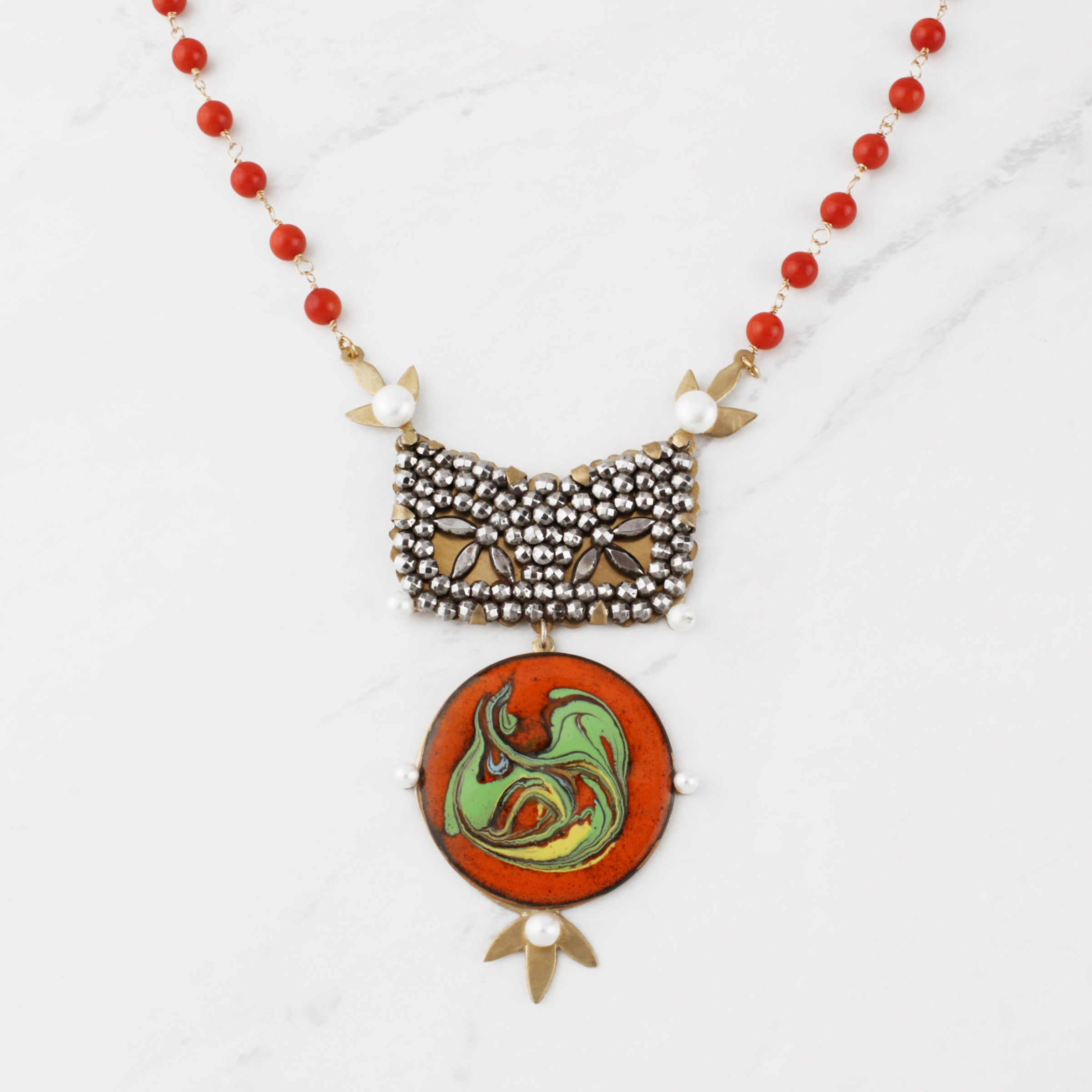 Vintage Tune in, Turn on, Drop Out Necklace