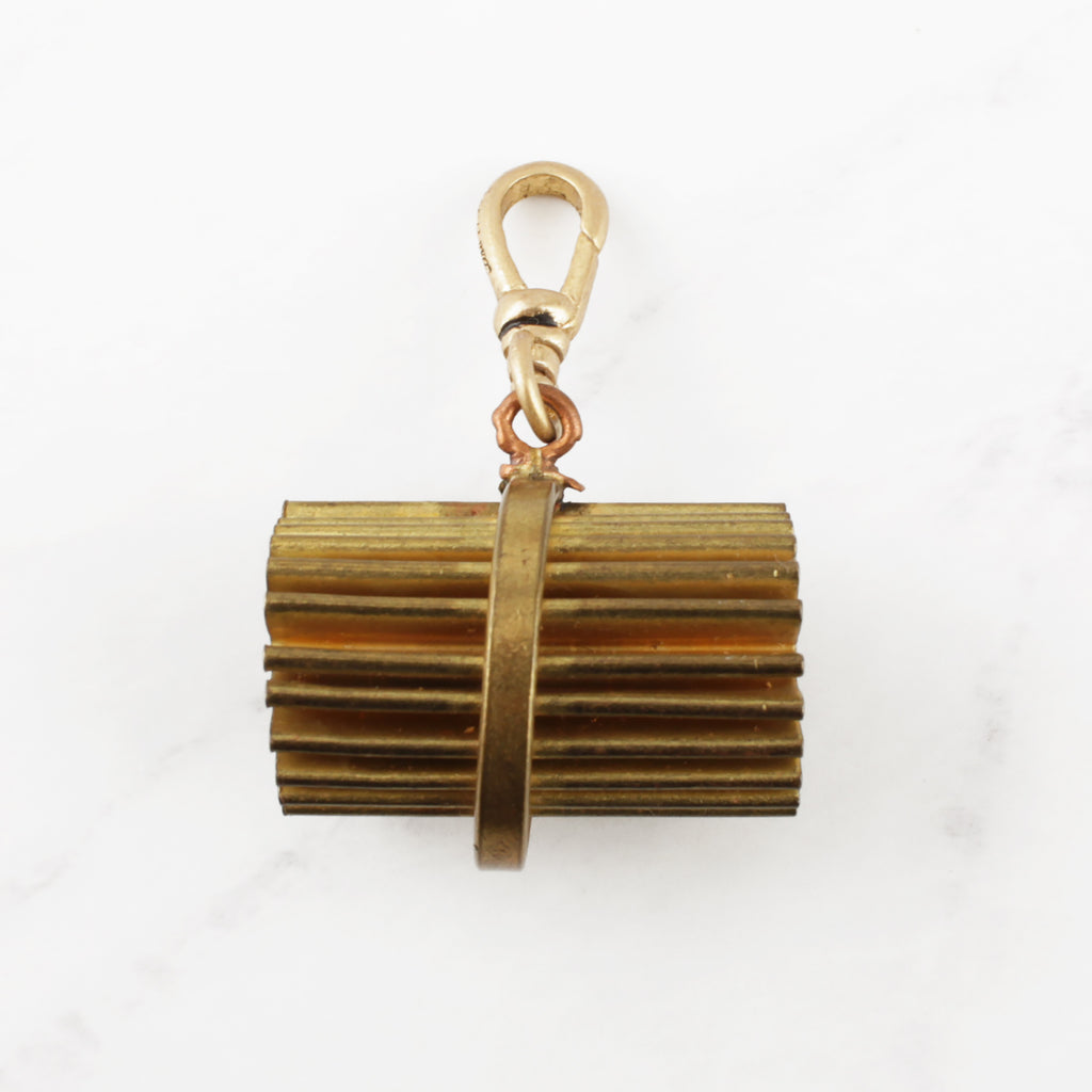 Antique Pleated Fob Charm