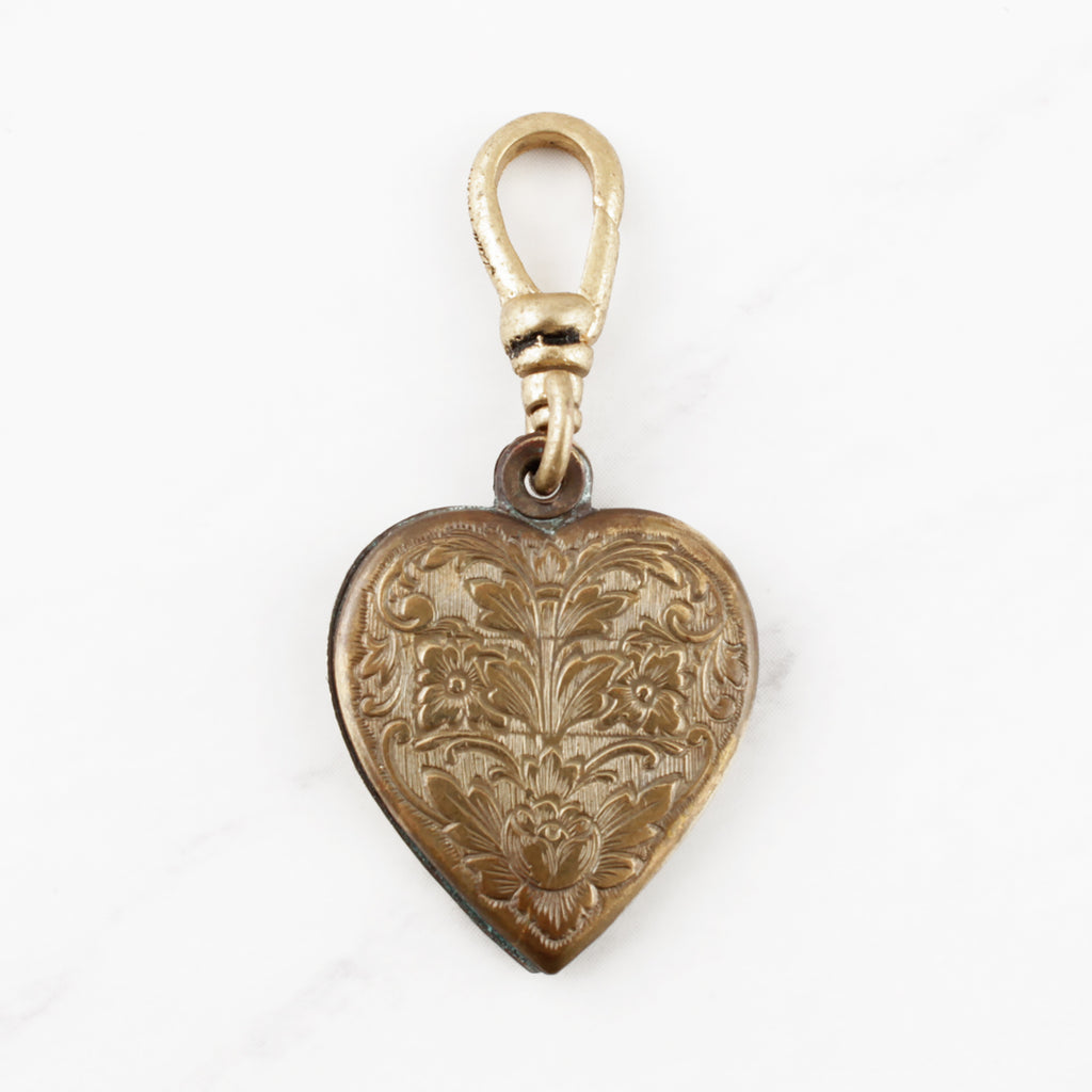 Vintage Engraved Heart Charm