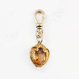 Antique Art Nouveau Laurel Topaz and Pearl Charm