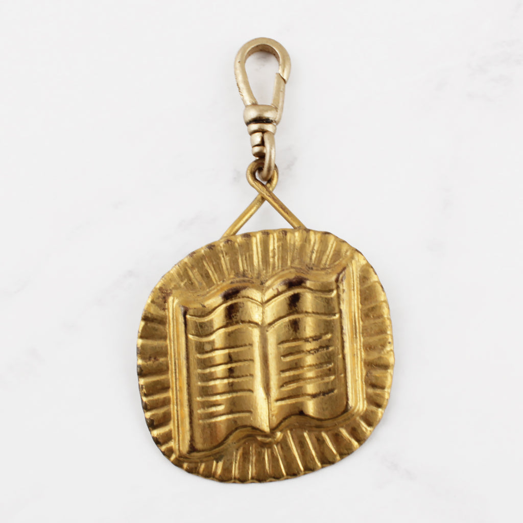 Vintage Book Medallion Charm