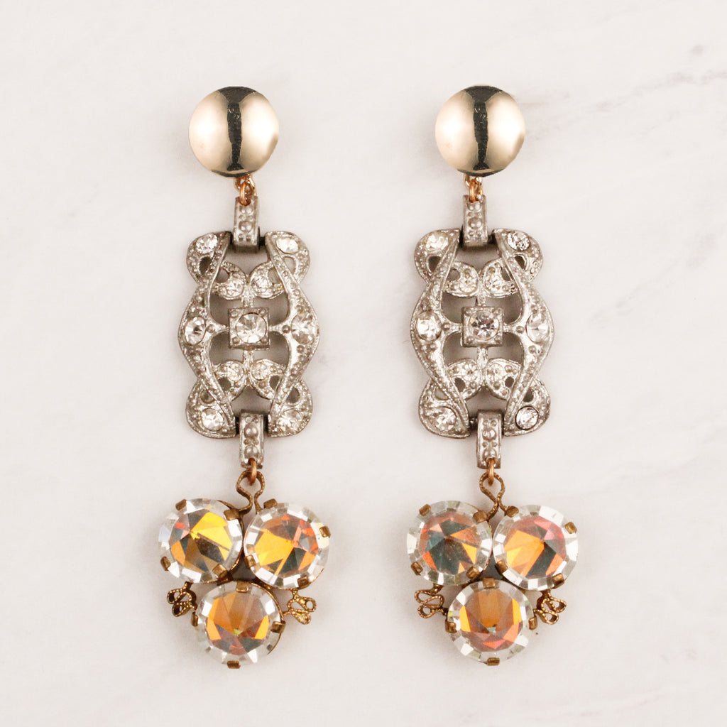 Vintage Deco Prism Journey Earrings