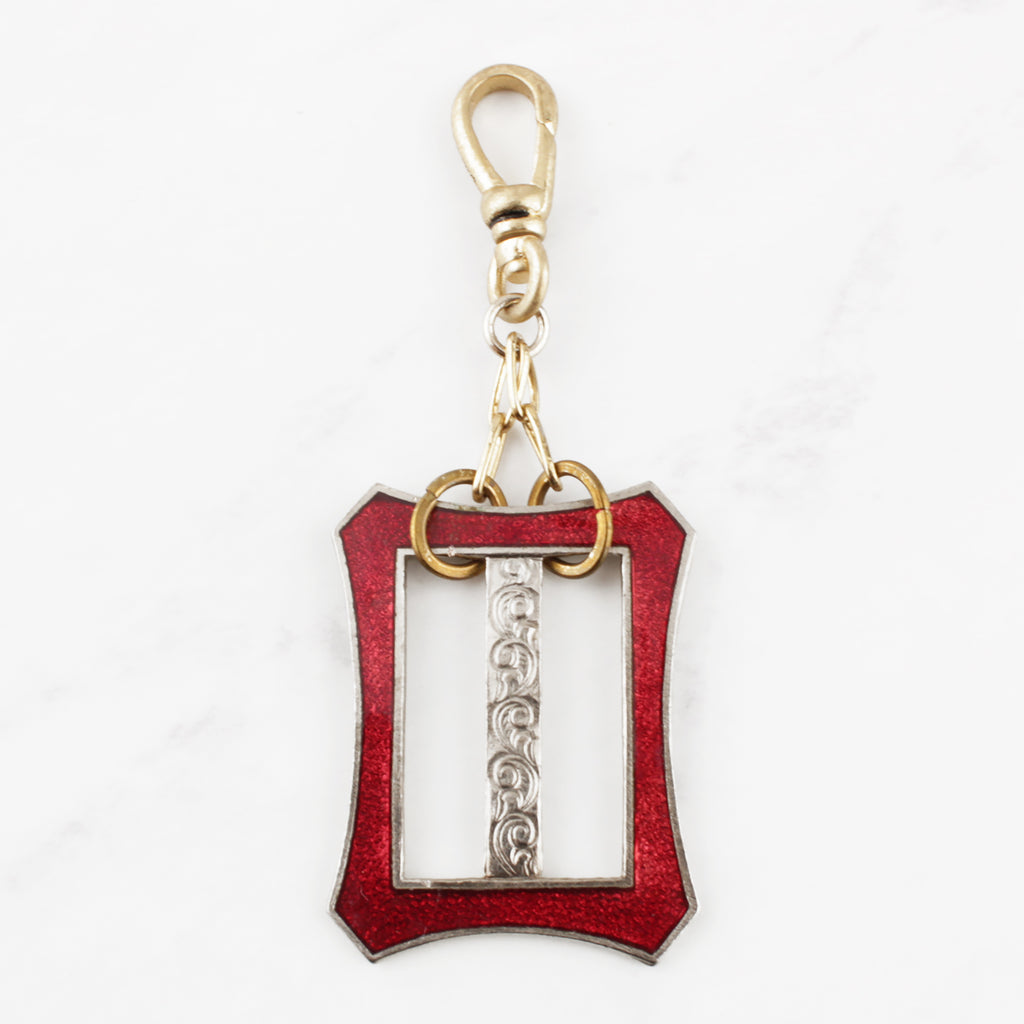 Antique Garnet Enamel Buckle Charm