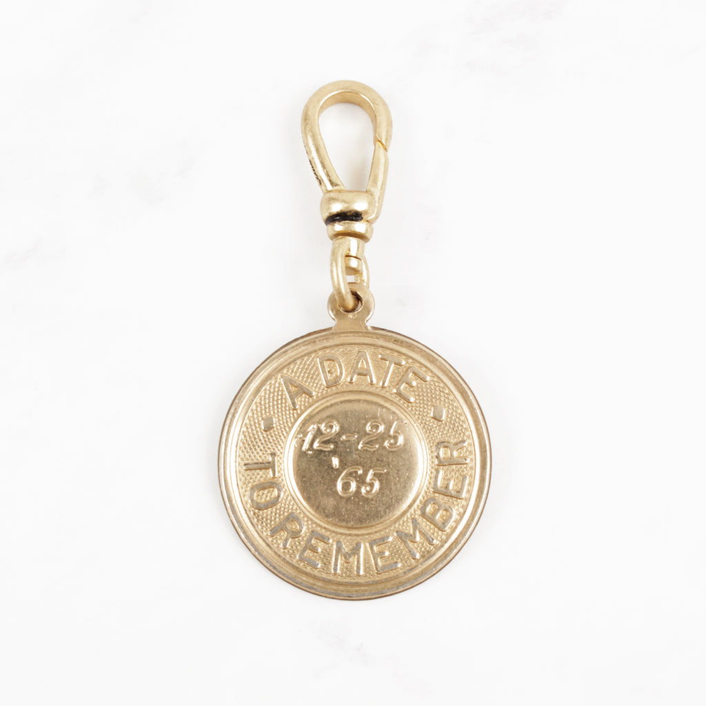 Vintage '65 A Date to Remember 10 Karat Gold Memory Charm