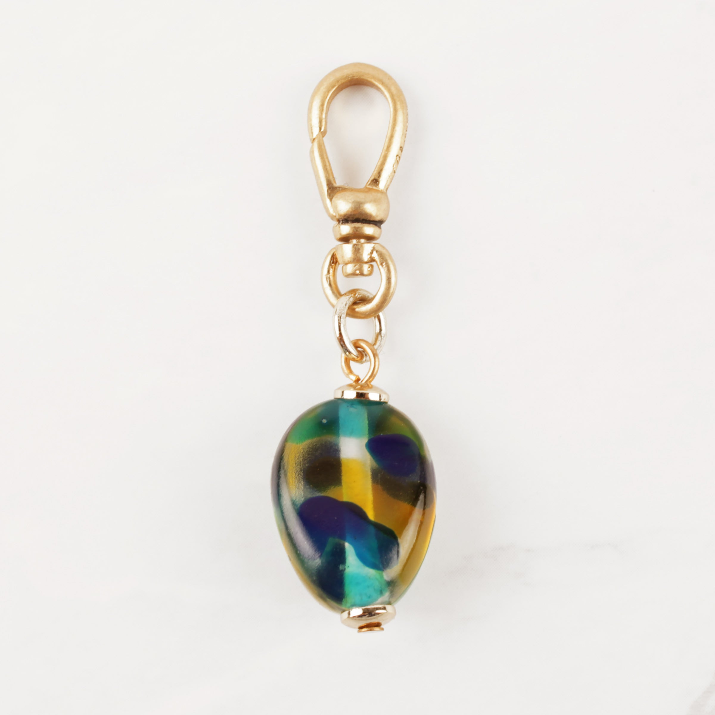 Vintage Spotted Resin Drop Charm