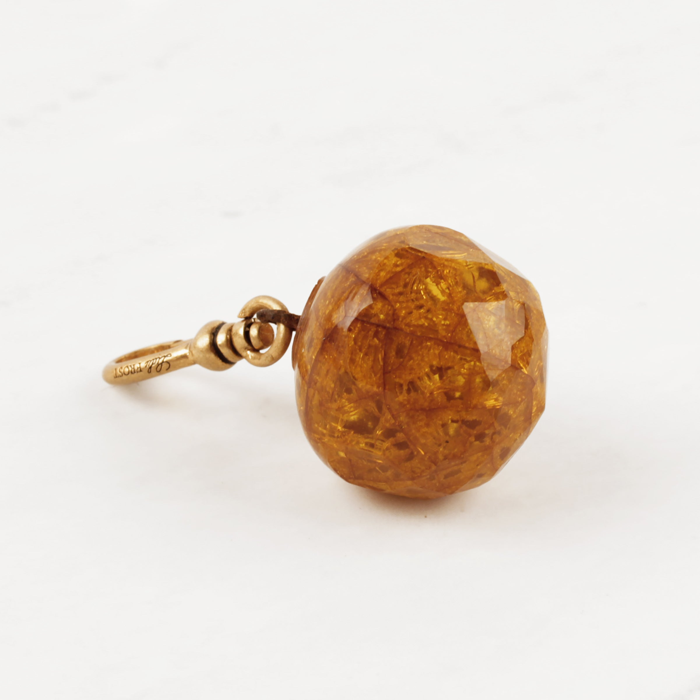 Vintage Crystallized Honey Bauble Charm