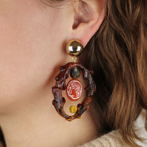Vintage Branched Journey Clip On Earrings
