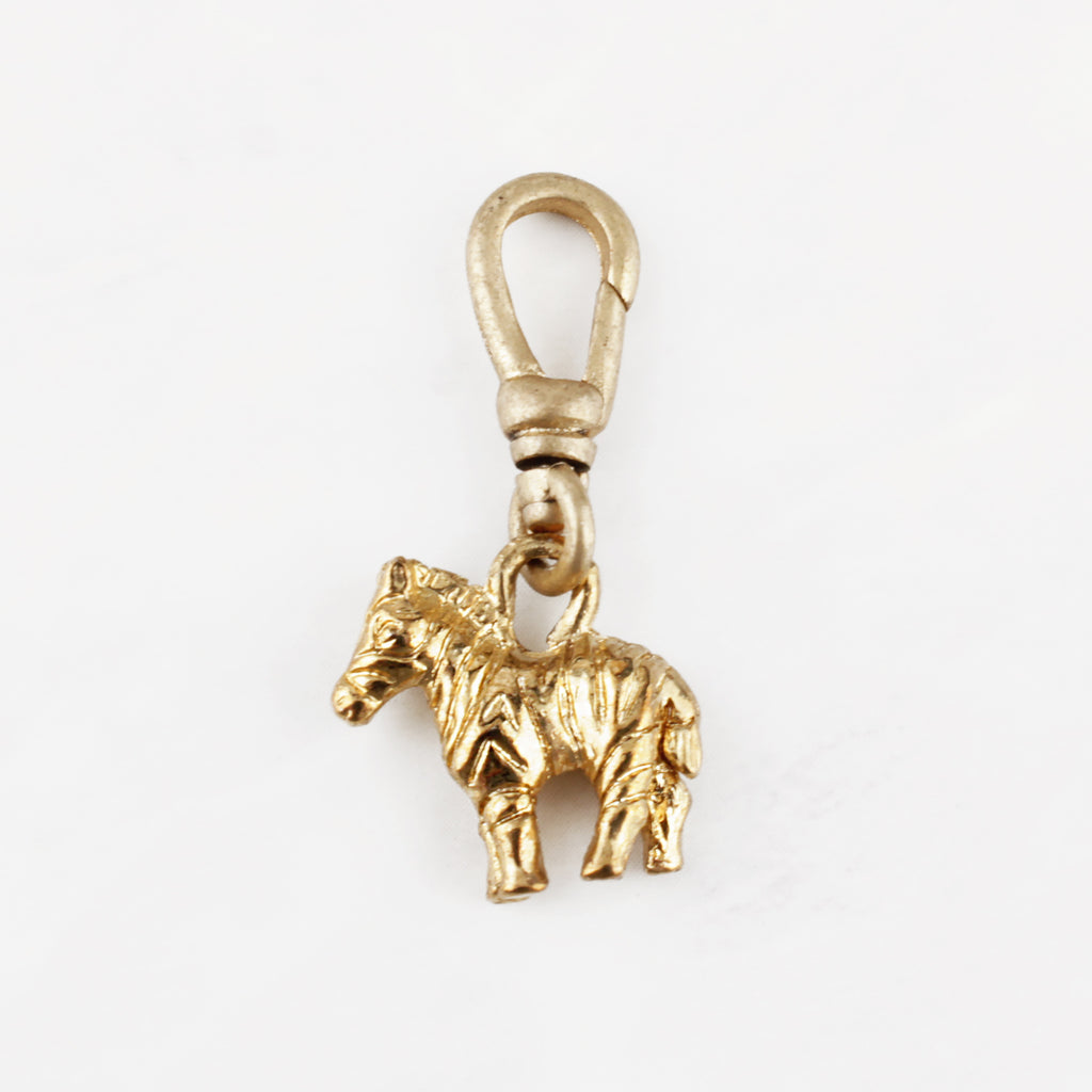 Vintage Goldplated Zebra Freedom Charm