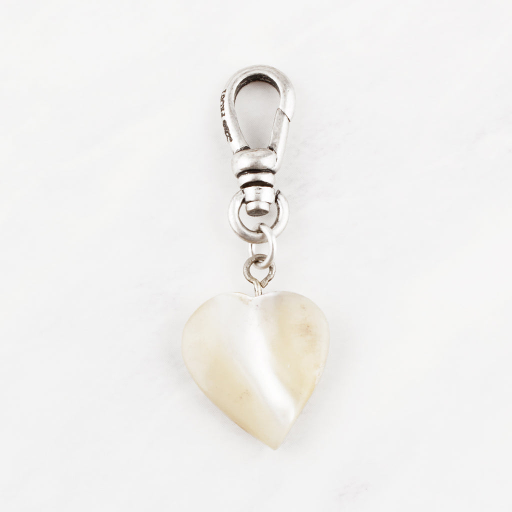 Antique Mother of Pearl Heart Charm