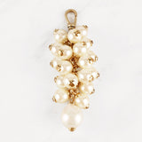 Vintage Natural and Glass Pearl Cluster Tassel Pettigrew Charm