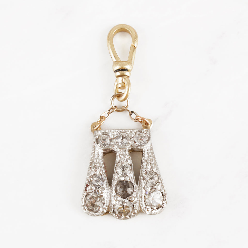 Vintage 1940's Glass Crystal Dewdrop Blessington Charm
