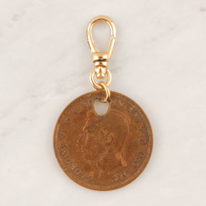 Vintage 1939 Half Penny Coin Charm