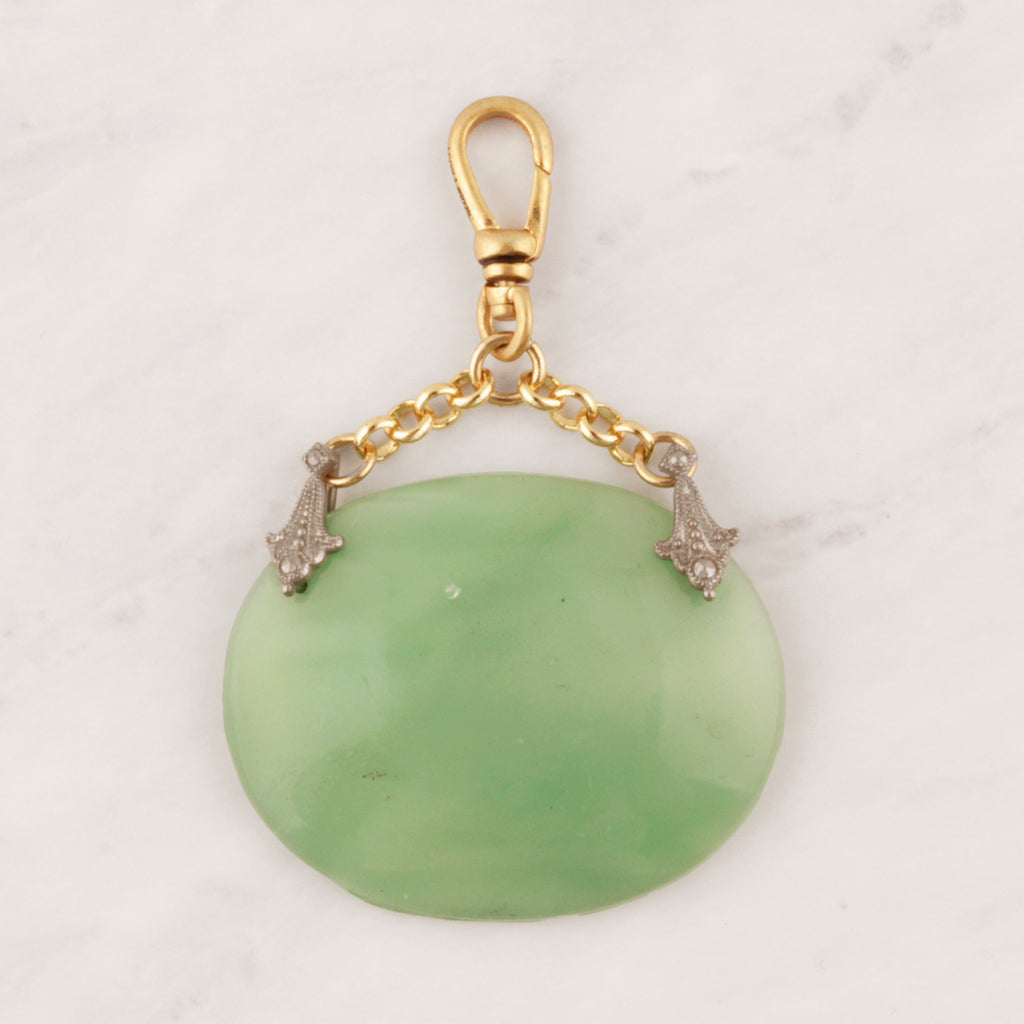 Vintage Mint Green Moonglow Charm