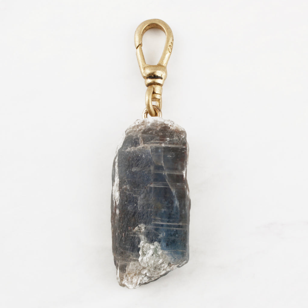 Brazilian Blue Kyanite Natural Raw Crystal Charm