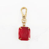 Vintage Glass Cameo Sweet at Heart Cherry Red Charm