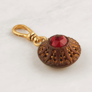 Antique La Mode Button Charm