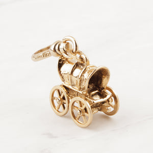 Vintage Mechanical Wagon Charm