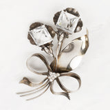 Vintage Sterling Silver and Glass Greta Brooch