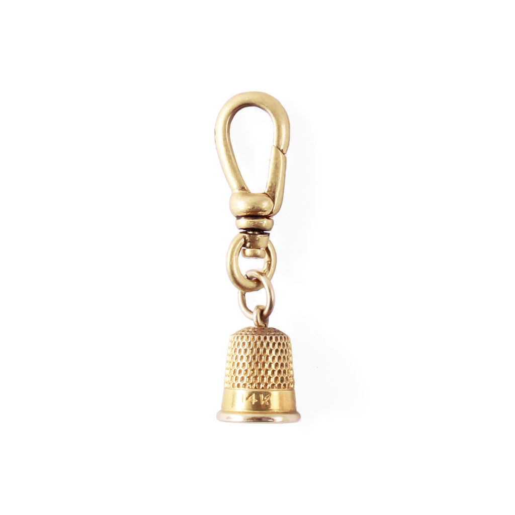 Vintage 14k Gold Thimble Charm - Photo