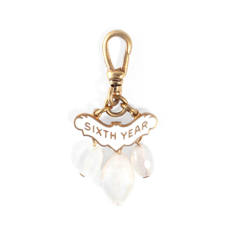 Vintage 10k Gold Filled Sixth Year Charm