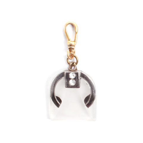 Vintage Art Deco Frosted Glass Charm
