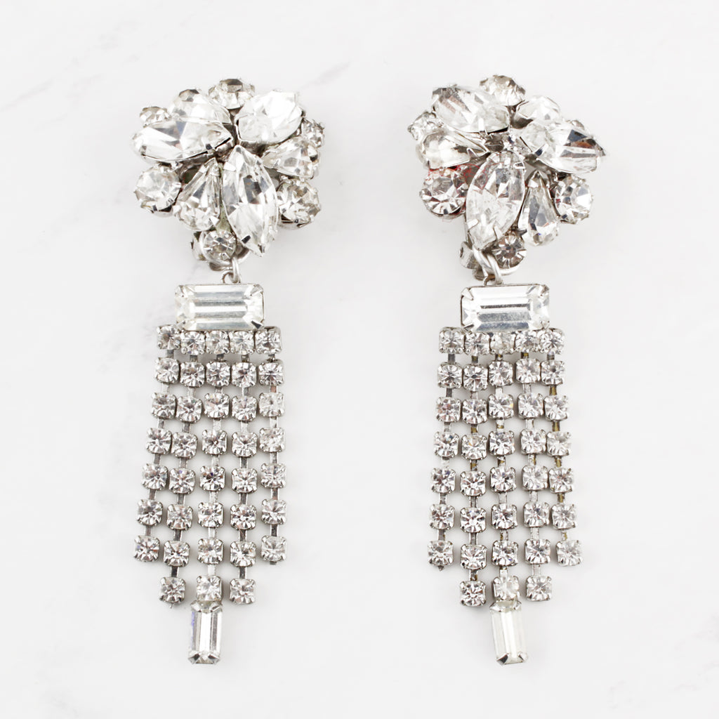 Vintage Crystal Fringe Freya Earrings