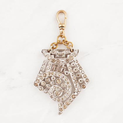 Vintage Art Deco Effie Crystal Charm