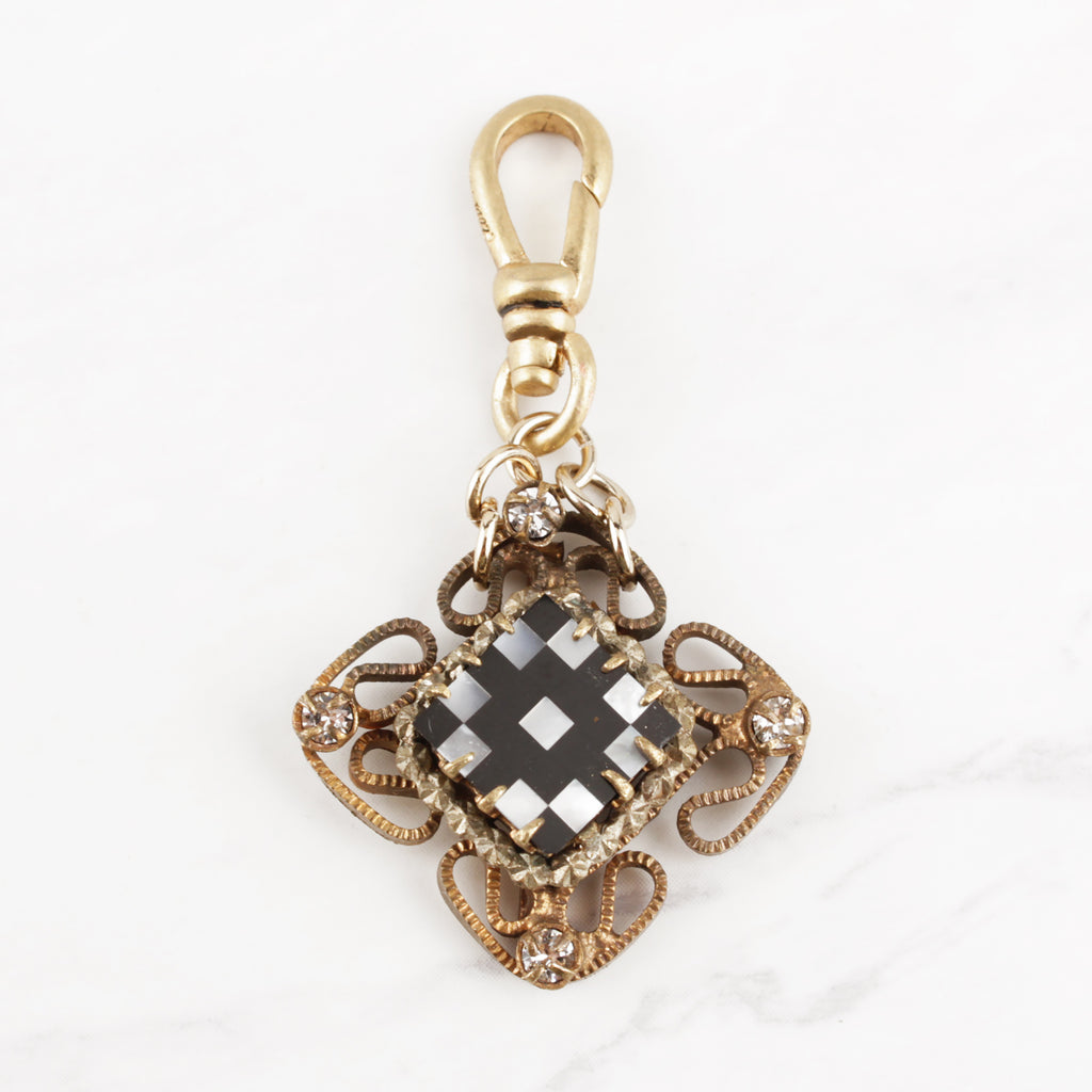 Vintage Framed Checkerboard Charm