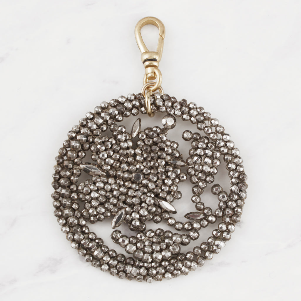 Antique Victorian Cut Steel Flora-lee Charm