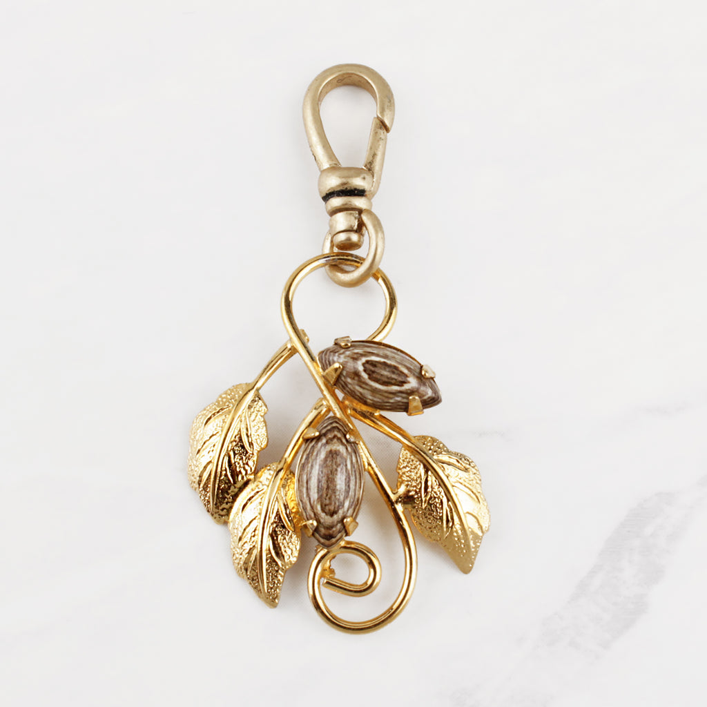 Vintage 12k Gold Filled Vine Charm