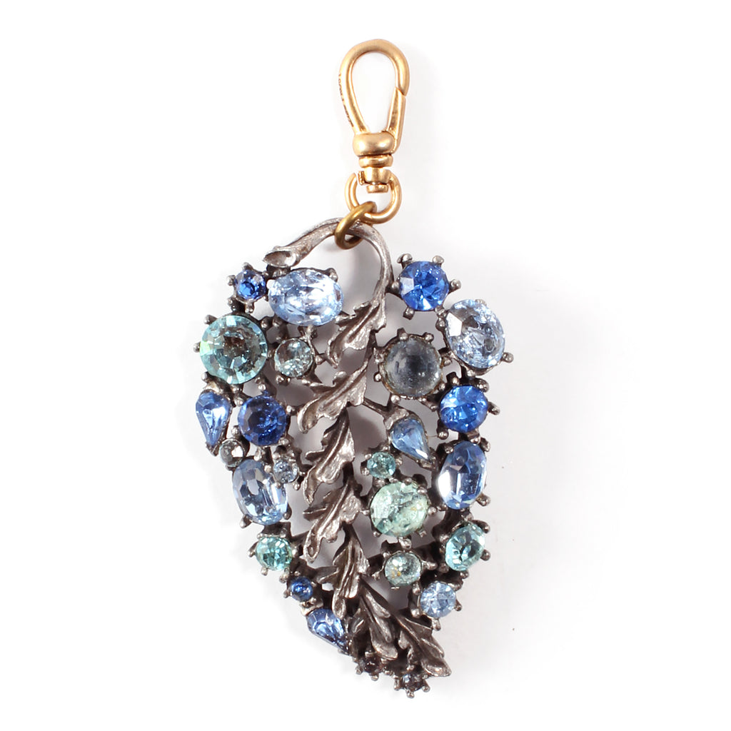 Vintage Lisner Leafy Crystal Charm - Photo