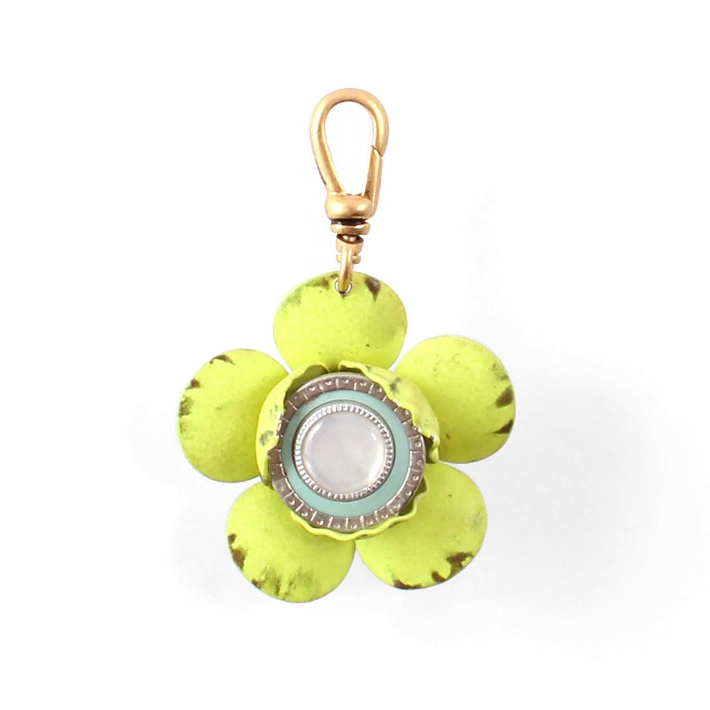 Vintage Layered Flower Charm - Photo