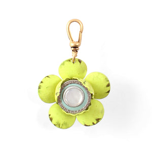 Vintage Layered Flower Charm - Thumbnail