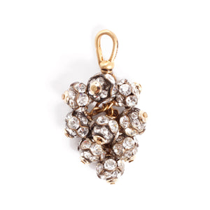 Vintage Crystal Bauble Cluster Charm - Thumbnail