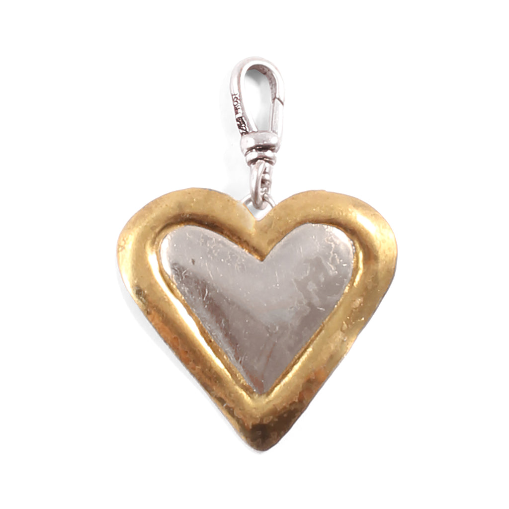 Vintage Gold & Silver Heart Charm - Photo