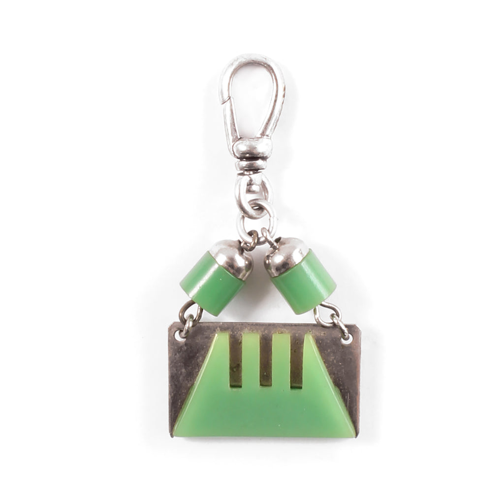 Vintage Art Deco Jade Celluloid Charm - Photo