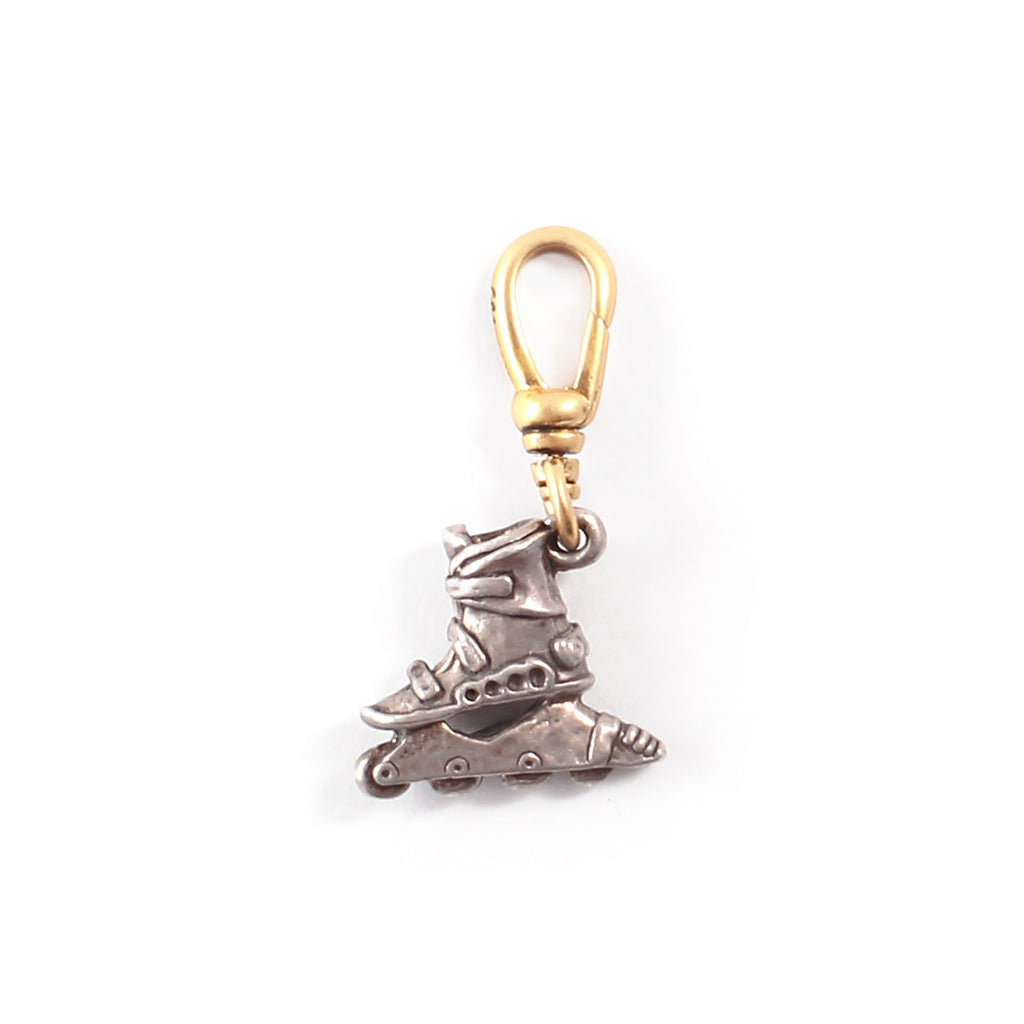 Vintage Sterling Silver Rollerblade Charm - Photo