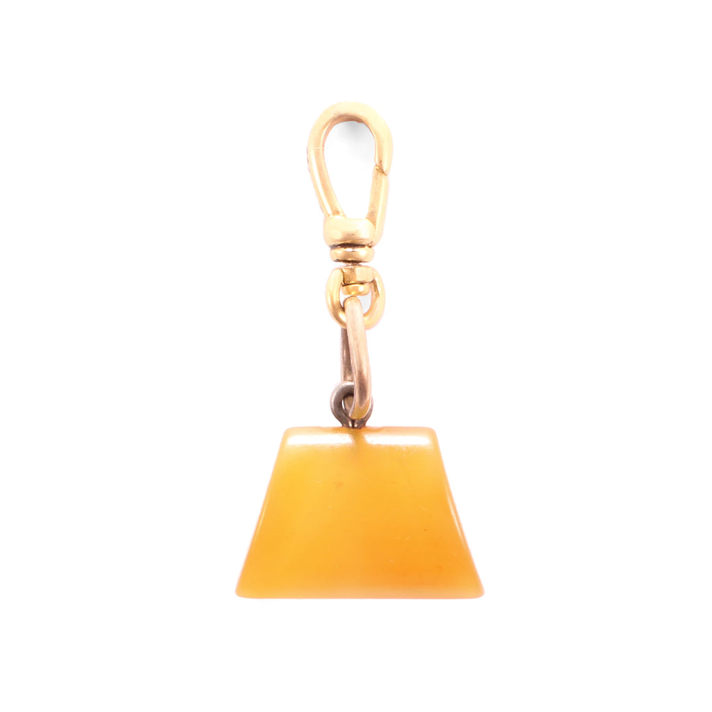 Antique Trapezoid Horn Fob Charm - Photo