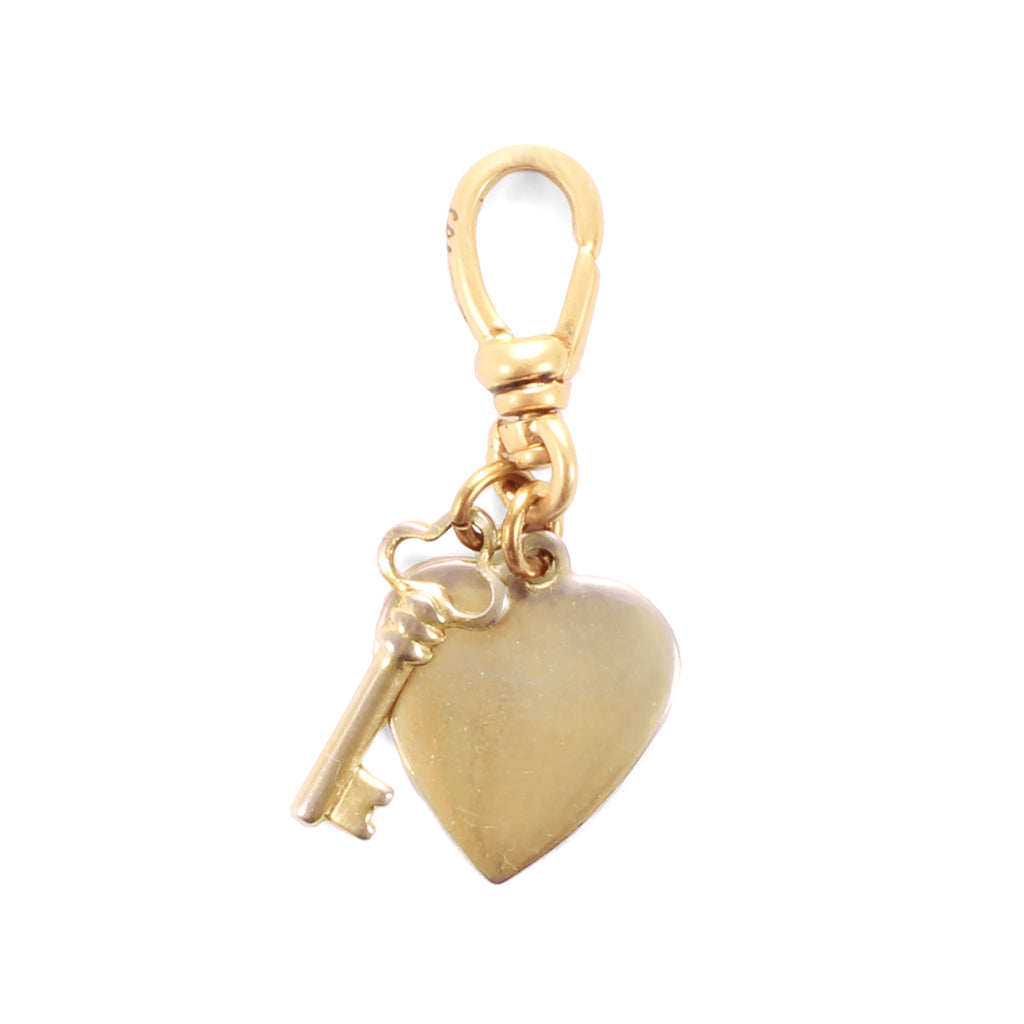 Vintage Heart & Key Charm - Photo