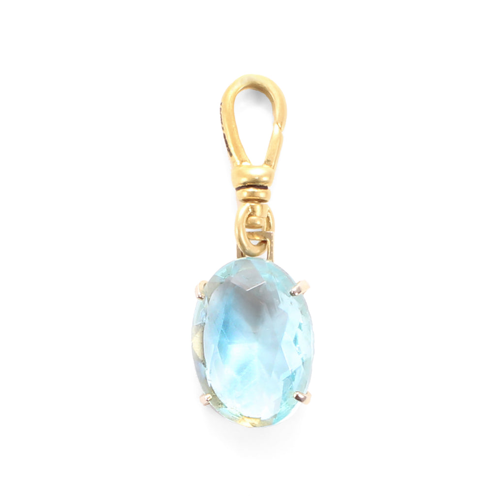 Vintage Aquamarine Crystal Charm - Photo