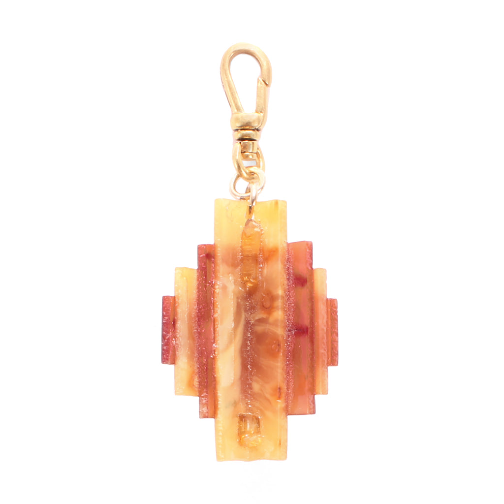 Vintage Exposition Layered Celluloid Charm - Photo