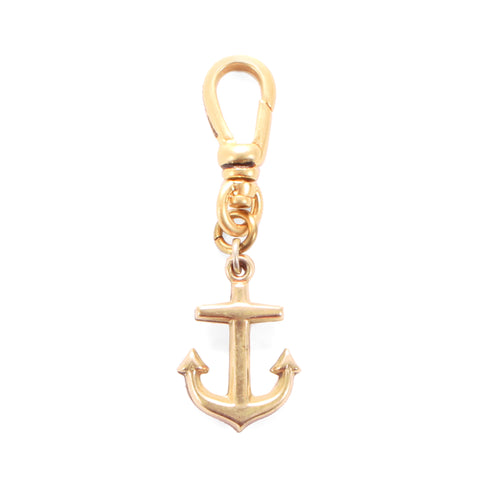 Antique Rose Gold Filled Anchor Fob Charm