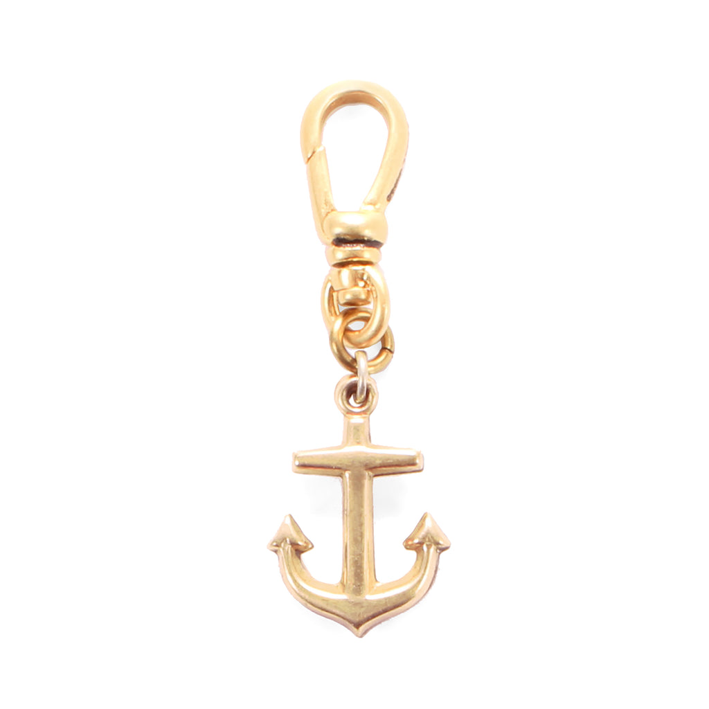 Antique Rose Gold Filled Anchor Fob Charm - Photo