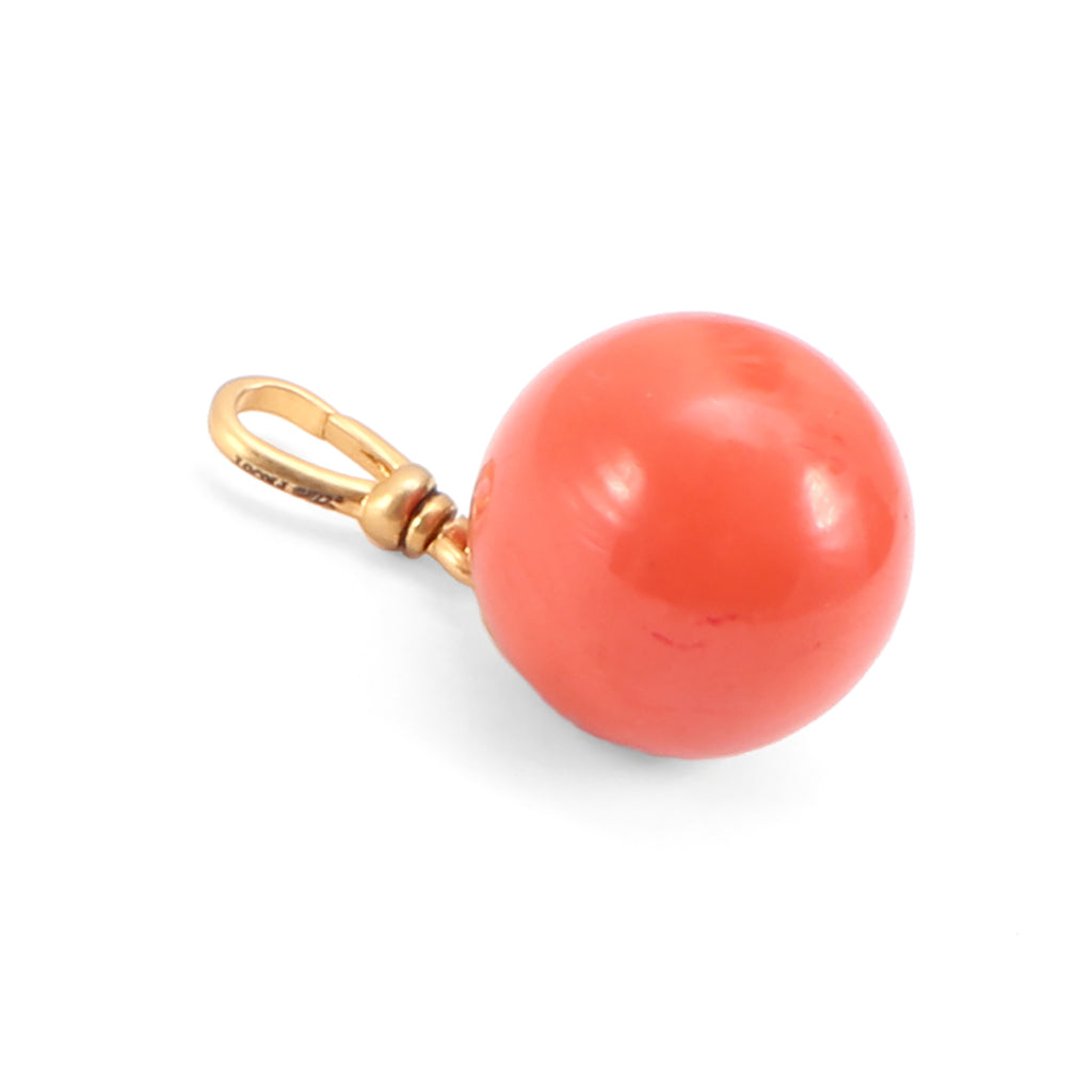 Vintage Coral Bakelite Drop Charm - Photo