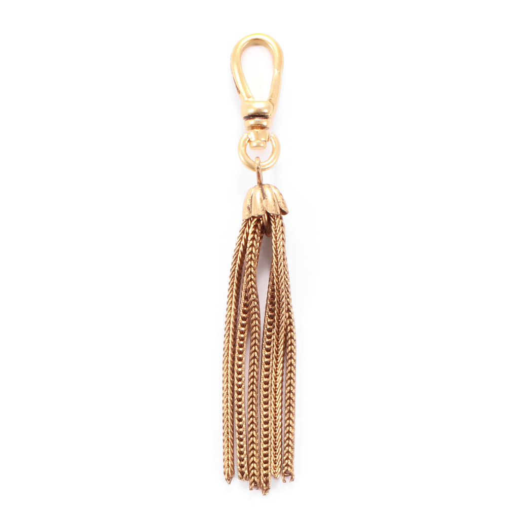 Antique Gold Filled Foxtail Chain Tassel Charm - Photo
