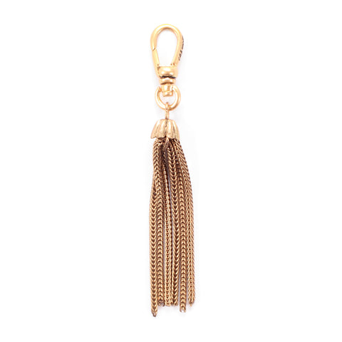 Antique Gold Filled Foxtail Chain Tassel Charm