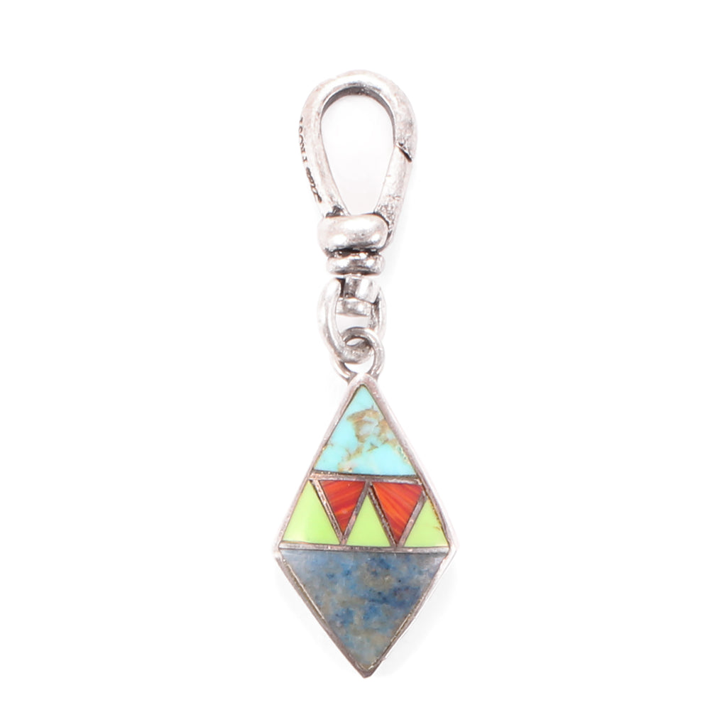 Vintage Sterling Silver Southwestern Inlaid Charm - Photo