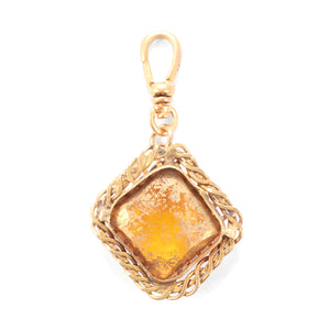 Antique Twist Frame Crystal Charm - Thumbnail