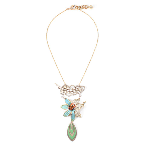 Vintage Lily Leaf Passage Necklace